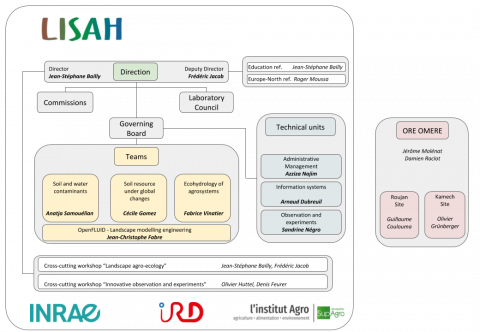 Organizational structure of LISAH - July 2020